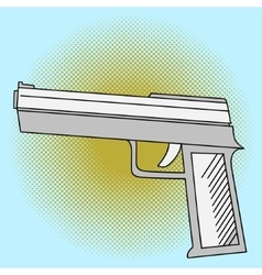 Pistol pop art vector image