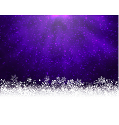 Purple winter backround vector
