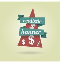 Realistic curved banner special offer vector