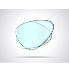 Smooth glass plates vector image