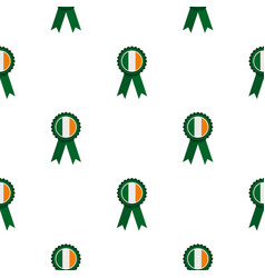 St patrick day rosette pattern seamless vector