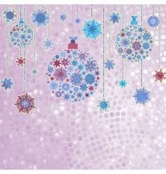 Stylized christmas balls on elegant eps 8 vector