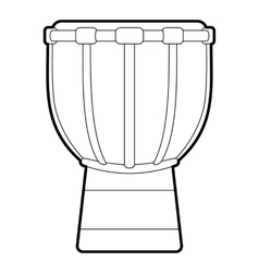 Tam tam icon outline style vector