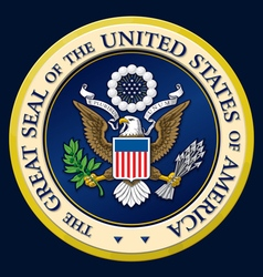 The Great Seal of the US vector image vector image