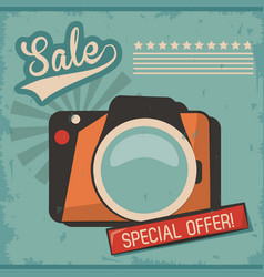 Vintage camera photo picture special offer vector
