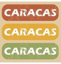 Vintage caracas stamp set vector