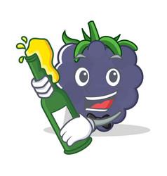 With beer blackberry character cartoon style vector