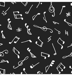 Monochrome seamless music pattern vector