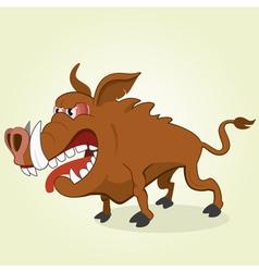 Wild hog vector image