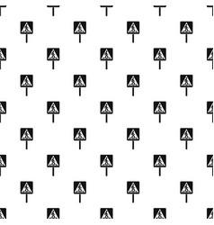 pedestrian sign pattern vector image