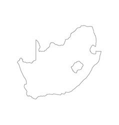 South africa map outline vector