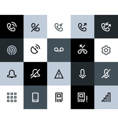 Telephone and call logs icons Flat vector image