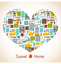 Sweet home heart concept vector