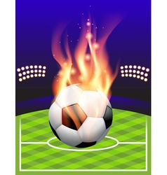 Fire soccer field vector