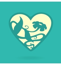 Heart symbol nature vector