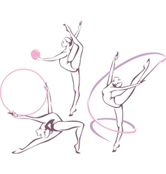 Rhythmic gymnastics set vector
