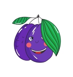 Fruit plum vector