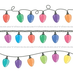 Christmas light lamps vector