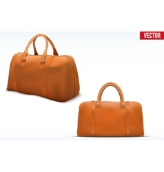 Classic leather bag set vector