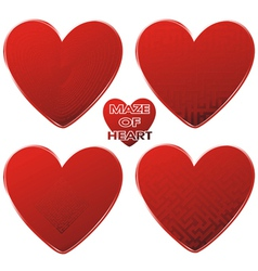 Heart red maze vector