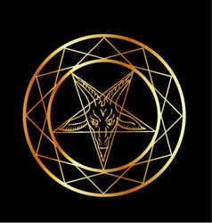 Golden sigil of baphomet vector