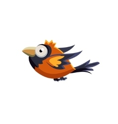 Cute colorful sparrow vector
