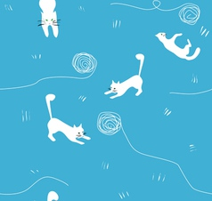 Cats and balls vector