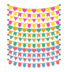 Bunting flags on a white background vector