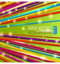 Abstract bright background with colorful laces vector image vector image