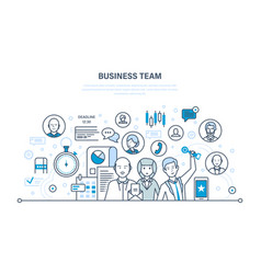 business team teamwork communication dialogues vector image