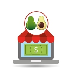 buying online avocado icon vector image
