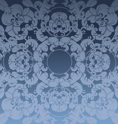 floral dark blue design background vector image