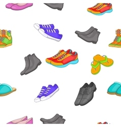 Foot care pattern cartoon style vector