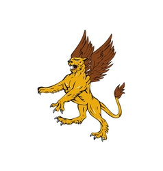 Griffin lion vector