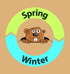 Groundhog spring or winter vector image