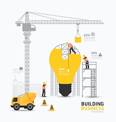 Infographic business light bulb shape template vector image vector image