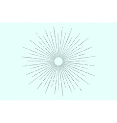 Linear drawing of light rays sunburst vector image