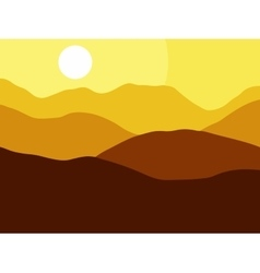 Mountains on the sun background eps10 vector