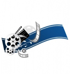movie elements vector image