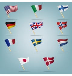 Moving flags set vector