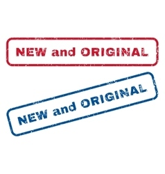 New and original rubber stamps vector