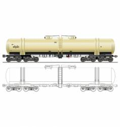 oil gasoline tanker car vector image