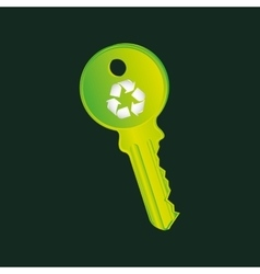 recycle symbol eco key design vector image