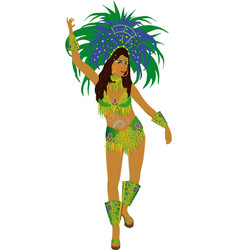 samba dancer vector image