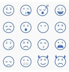 Set of emoticons set of emoji set of avatar vector