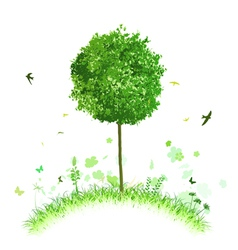 single tree vector image