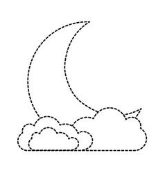 sleeping moon kawaii character vector image