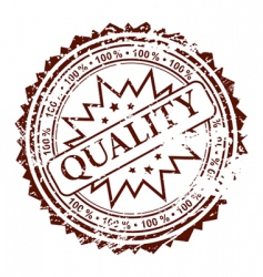 stamp quality vector image