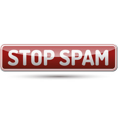 stop spam button vector image
