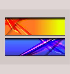 stripe banner design vector image